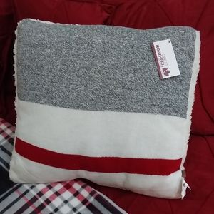 Great Northern colored with fleece  throw pillow!